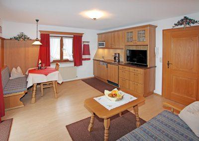 Ferienwohnung Karwendel - Wohnküche